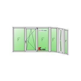 Остекление балконов - типовой балкон п-44т с эркером 2270-45.